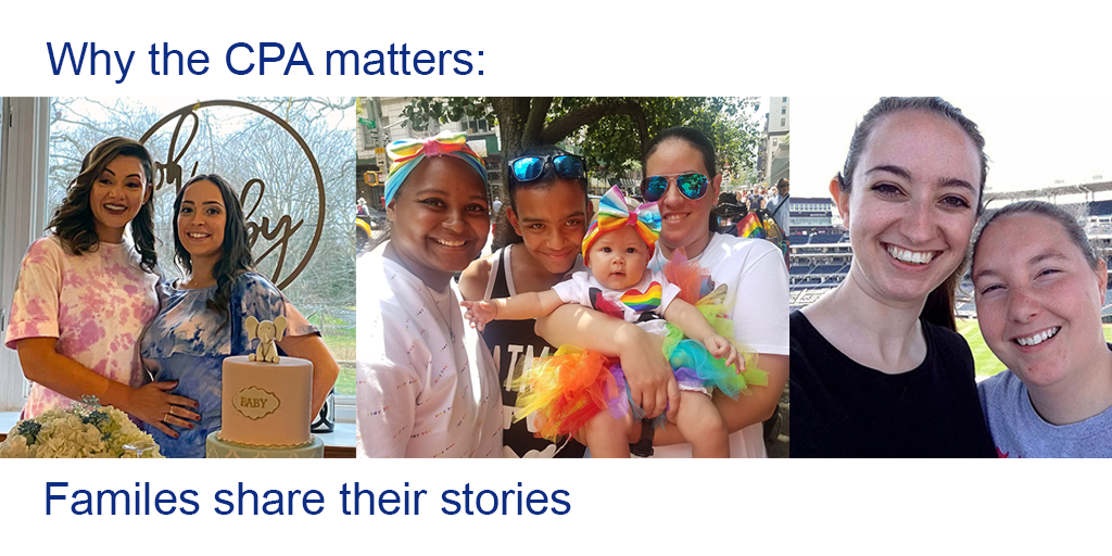 Why the CPA matters: Families share their stories. Images of three families