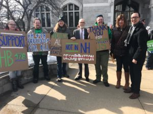 Supporters at the February 21, 2017 hearing for HB 478 in New Hampshire