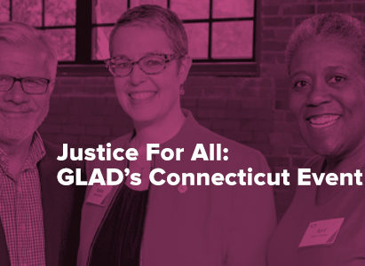 Three guests enjoying the 2016 GLAD Connecticut event.