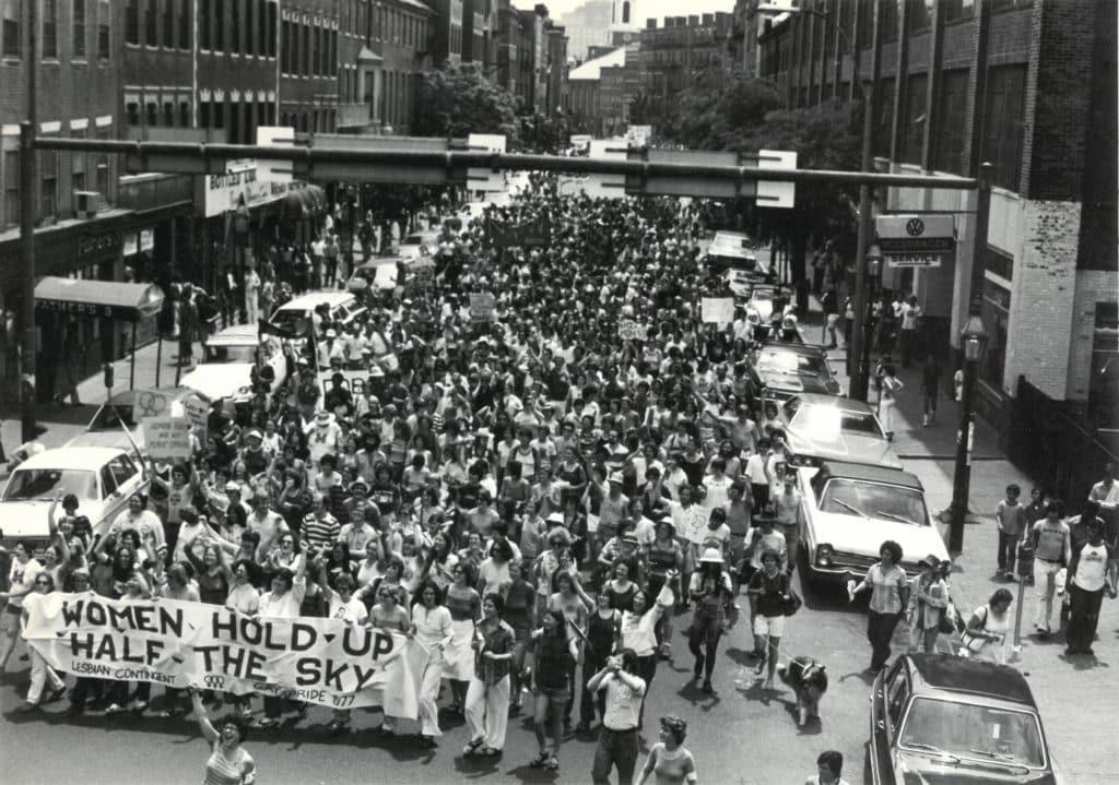 1977 Lesbian Contingent Pride photo