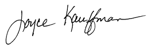 Joyce Kauffman's signature