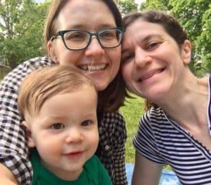 Julie, Sabra, and their son Oscar