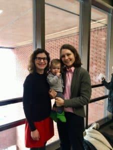 Julie and Sabra with their son Oscar