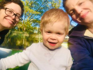 Sara, Anna, and their son Eli