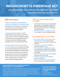 small version of MA parentage act fact sheet